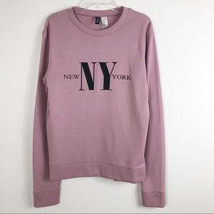 Divided by H&M New York Graphic Crew Neck Sweater